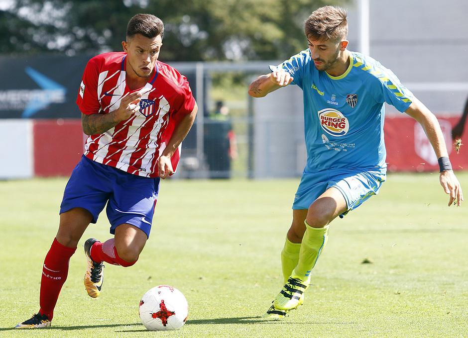Segunda B | Atlético de Madrid B - Gimnástica Segoviana. Juan Moreno