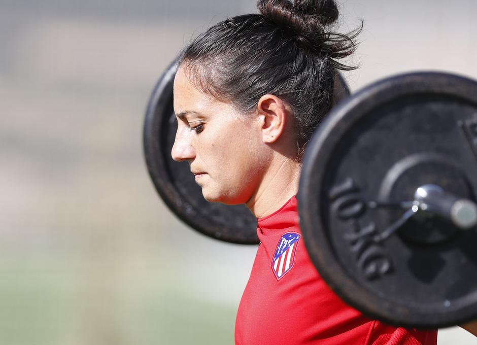 Temporada 16/17. Entrenamiento del Atlético de Madrid Femenino en LASR. Kaci