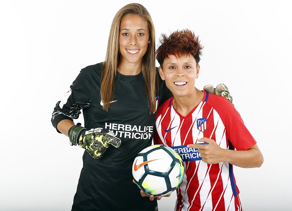 Temp. 17-18 | Sesión de fotos Atlético de Madrid Femenino. Amanda y Lola