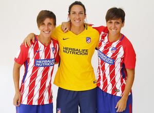 Temp. 17-18 | Sesión de fotos Atlético de Madrid Femenino. Sonia, Meseguer y Corredera