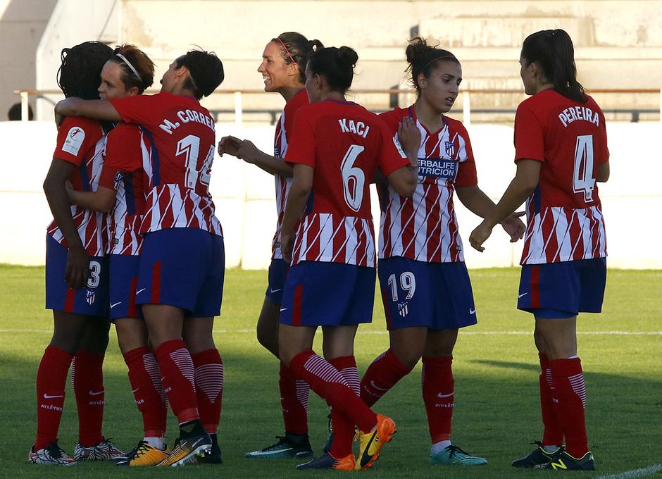Temp. 2017-18 | Fundación Albacete - Atlético de Madrid Femenino | Celebración Sonia