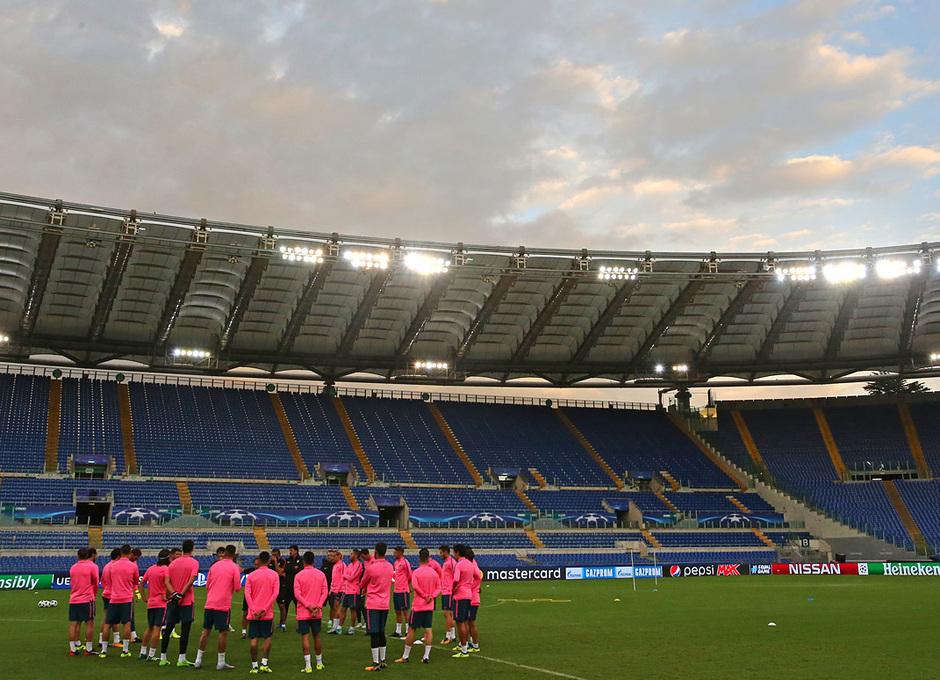 Temp. 17/18 | 11/09/17 Entrenamiento en el Olímpico de Roma