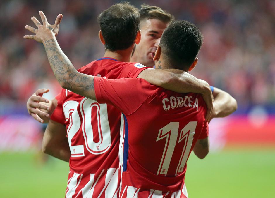 Temporada 2017-18. Primer gol del Wanda Metropolitano.