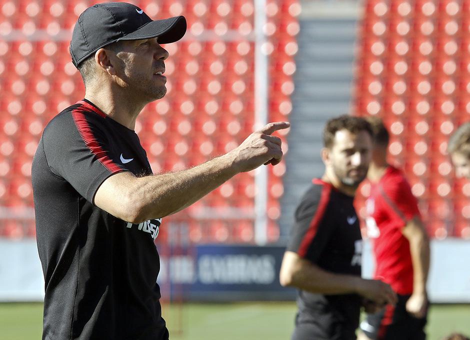 Temporada 17/18 | Entrenamiento en la Ciudad Deportiva Wanda | 25/09/2017 | Simeone