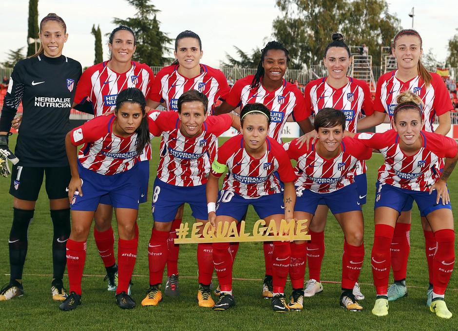 Temporada 17/18. Partido entre el Atlético de Madrid Femenino contra el Wolfsburgo. Once.