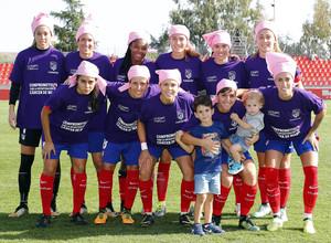Temporada 17/18. Partido entre el Atlético de Madrid Femenino contra el Sporting de Huelva. Once.