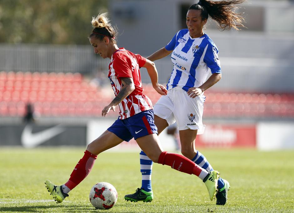 Temporada 17/18. Partido entre el Atlético de Madrid Femenino contra el Sporting de Huelva. Sosa.