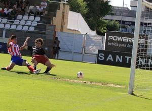 Xu Xin, del Atlético de Madrid Juvenil DH, marca el primer gol en Copa ante el Athletic