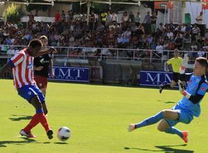 Keita, del Juvenil A, marca el 2-1 ante el Athletic en el partido de ida de las semifinales de la Copa del Rey