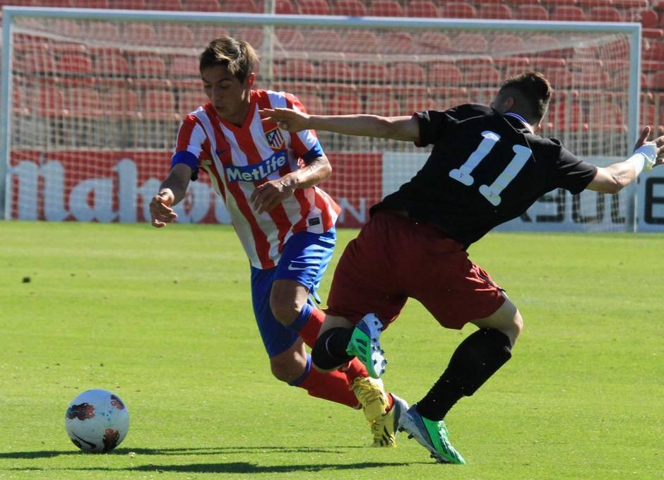 Chele, del Atlético de Madrid Juvenil DH, en un momento del partido ante el Athletic