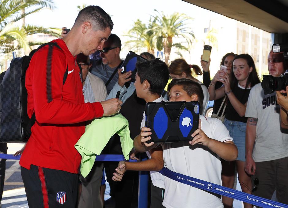 Temp. 17-18. Llegada del equipo a Alicante. Torres