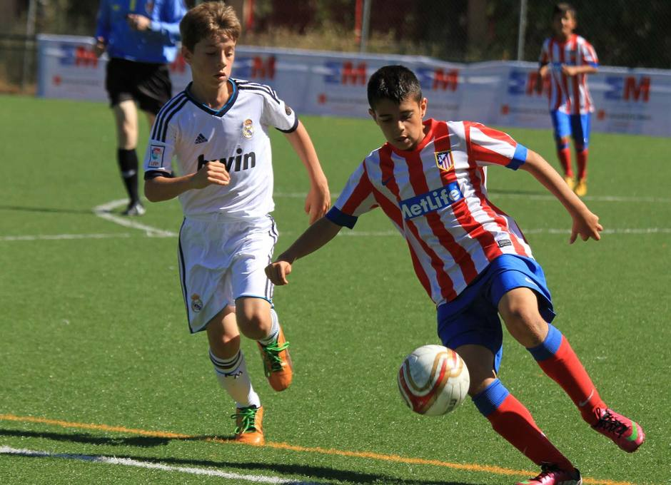 El Atlético de Madrid Benjamín cayó en la semifinal de la Champions de Madrid ante el Real Madrid