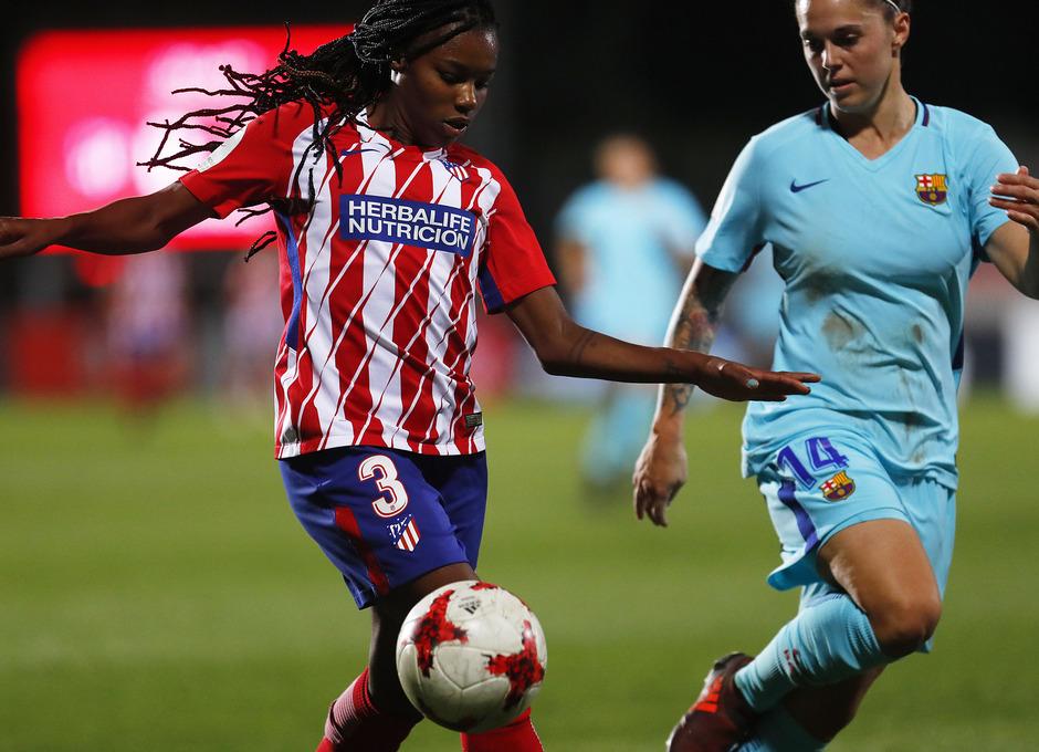 Temporada 17/18. Partido entre el Atlético de Madrid Femenino contra FC Barcelona. Ludmila.