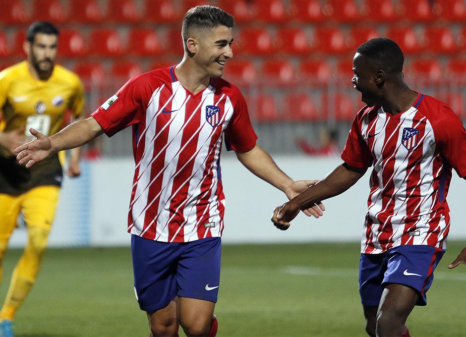 Atlético de Madrid B - Ponferradina | Celebración Obama y Moya