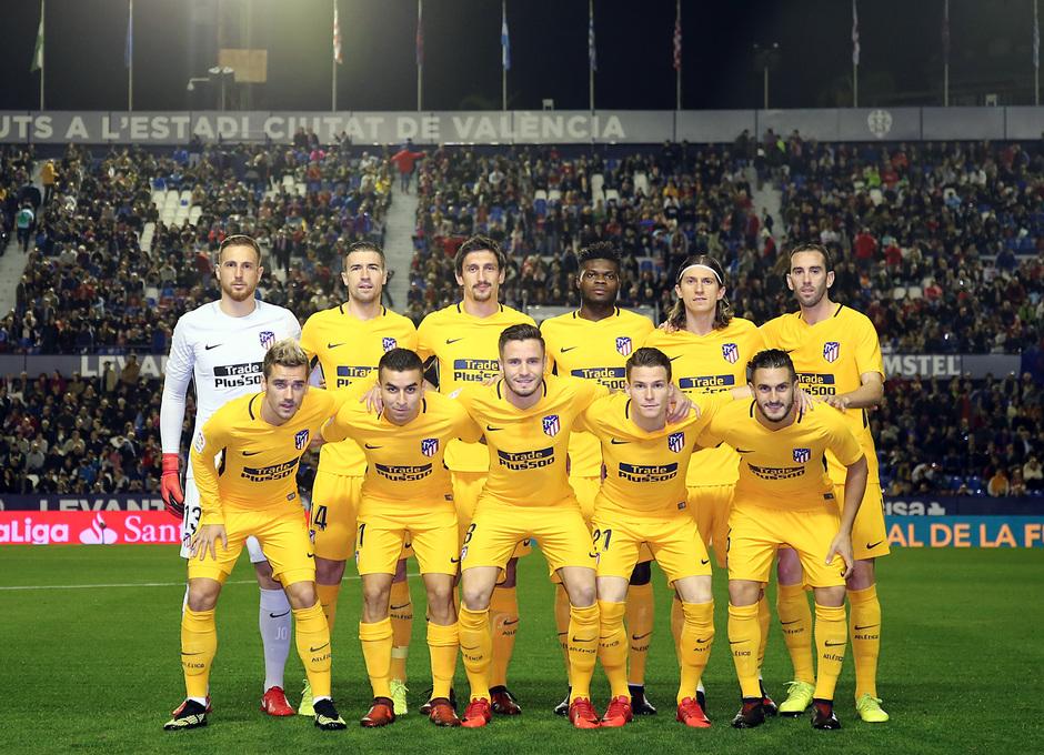 Temp. 17-18 | Levante - Atlético de Madrid | Once