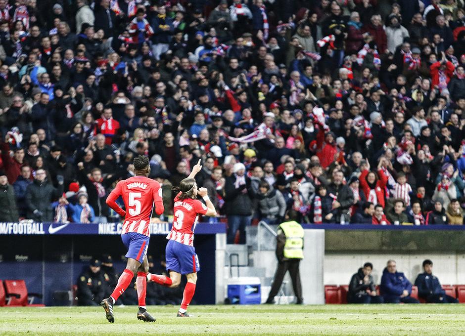 Temp. 2017-2018. Atlético de Madrid-Real Sociedad. Filipe Luis
