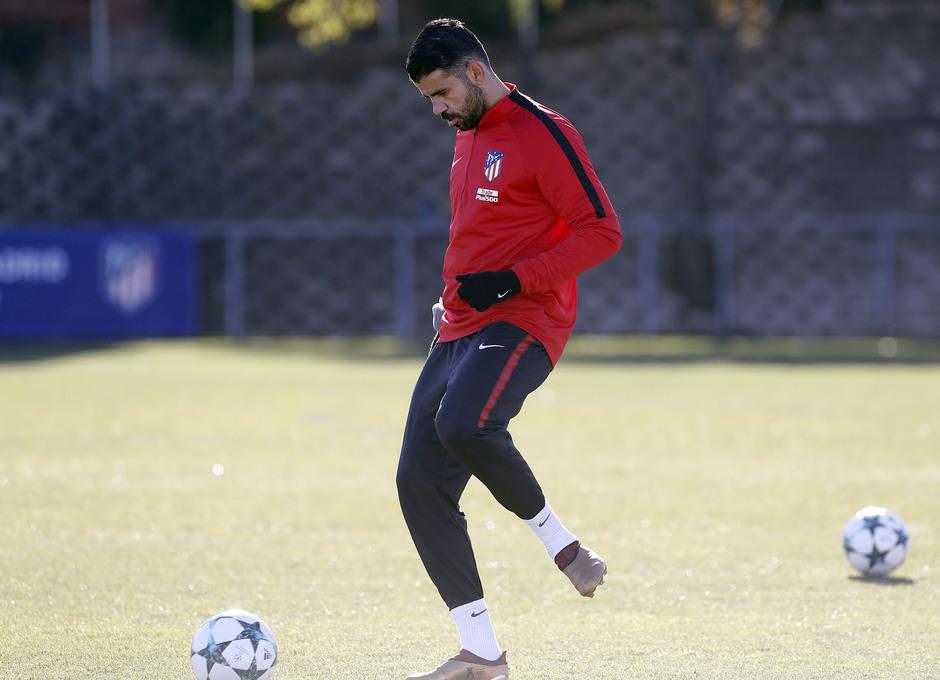Temp. 2017-2018. Entrenamiento en la Ciudad Deportiva Wanda. Diego Costa