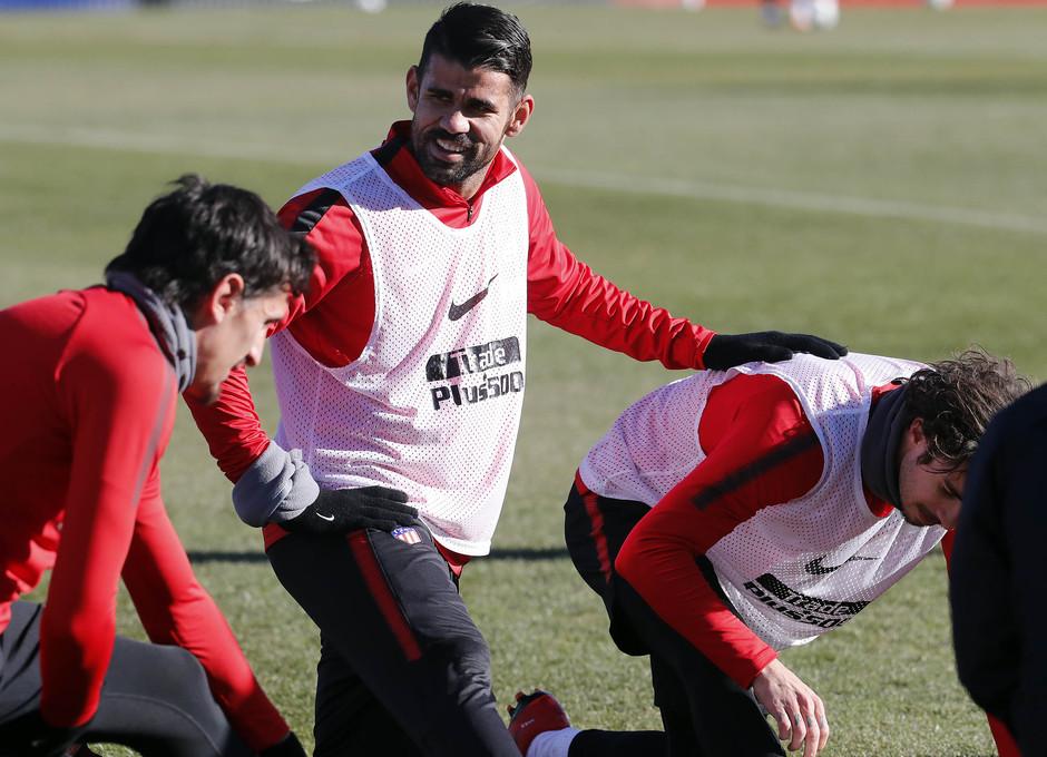 Temp. 2017-2018. Entrenamiento en la Ciudad Deportiva Wanda. Costa