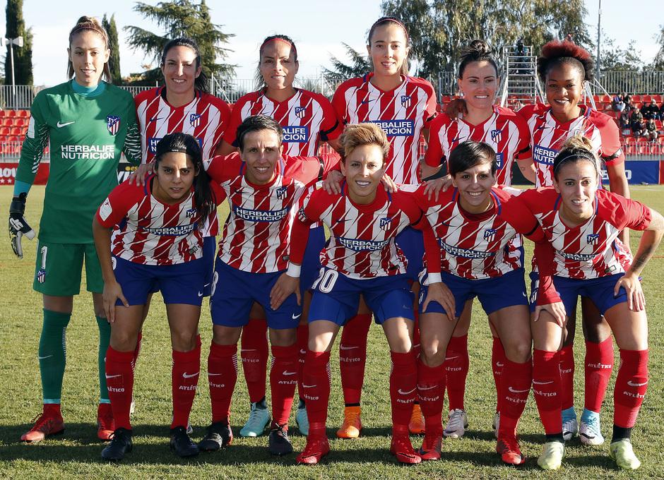 Temporada 17/18. Partido entre el Atlético de Madrid Femenino contra el Sevilla. Once.