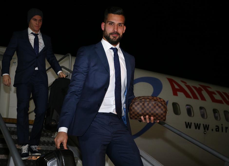 Temporada 17/18. Llegada del equipo a Londres para el Chelsea-Atlético. Moyá