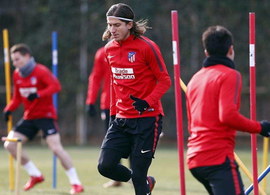Temporada 17/18. Entrenamiento en la ciudad deportiva Wanda Atlético de Madrid 07_12_2017. Filipe.