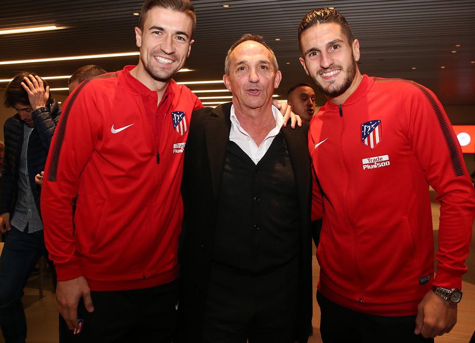 Temp. 17-18 | Cena Leyendas Atlético de Madrid en el Wanda Metropolitano | Koke y Gabi