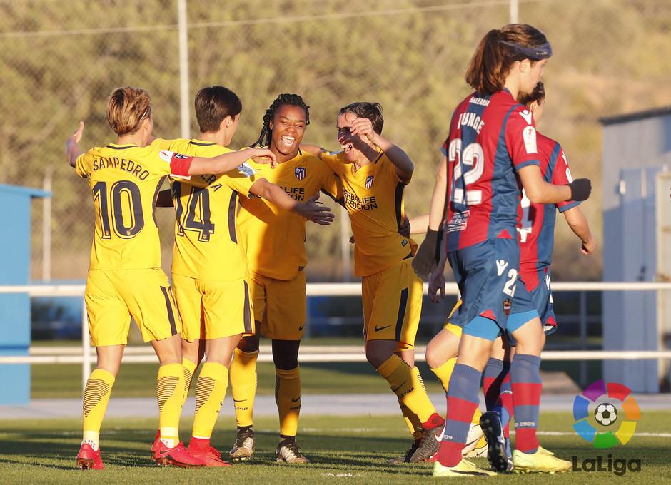 Temp. 17-18 | Levante - Atlético de Madrid Femenino | Celebración Ludmila