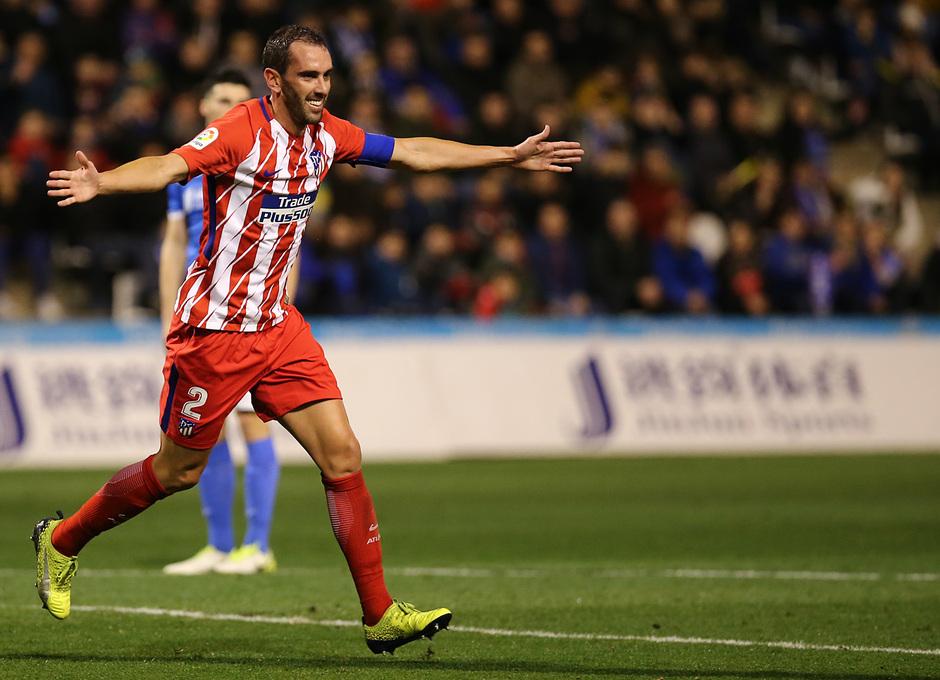 Temp. 17-18 | Copa del Rey | Lleida - Atlético de Madrid | Godín
