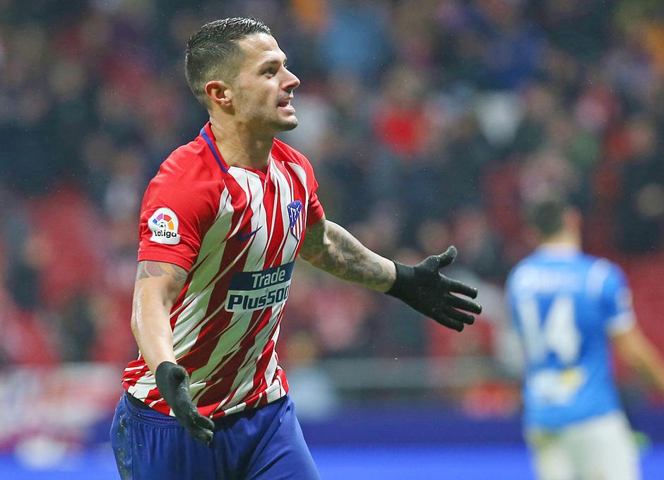 temporada 17/18. Partido Wanda Metropolitano. Atlético Lleida. Gol Vitolo