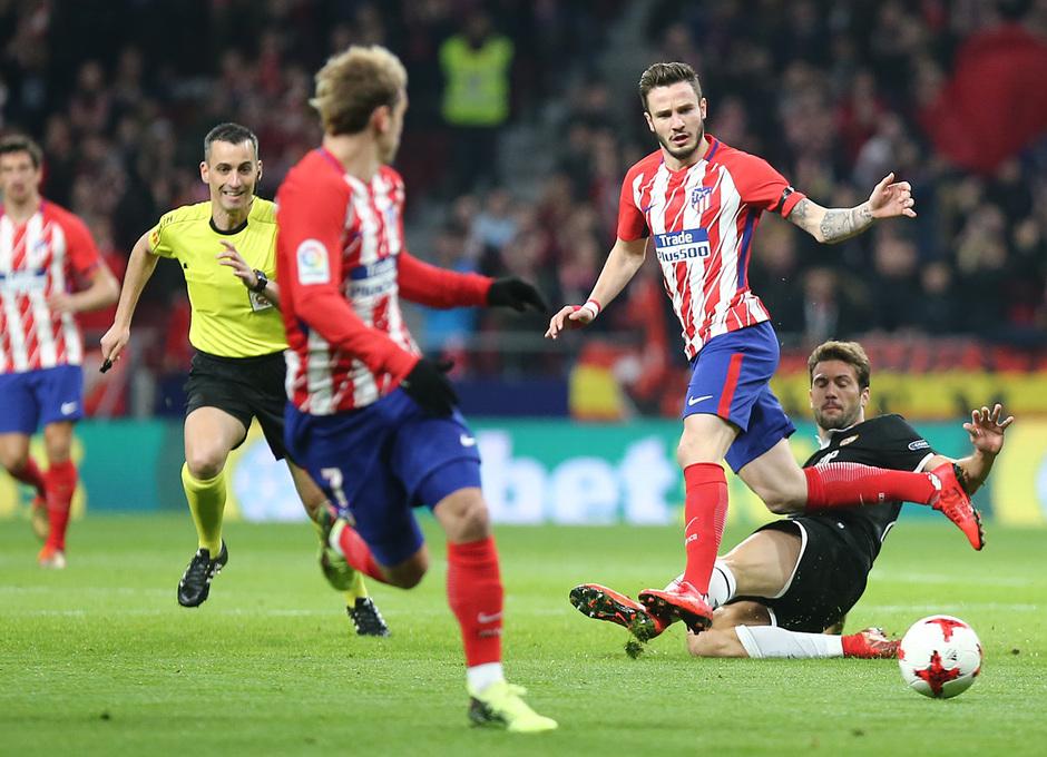 Temp. 17-18 | Atlético de Madrid - Sevilla | Ida Copa del Rey | Saúl