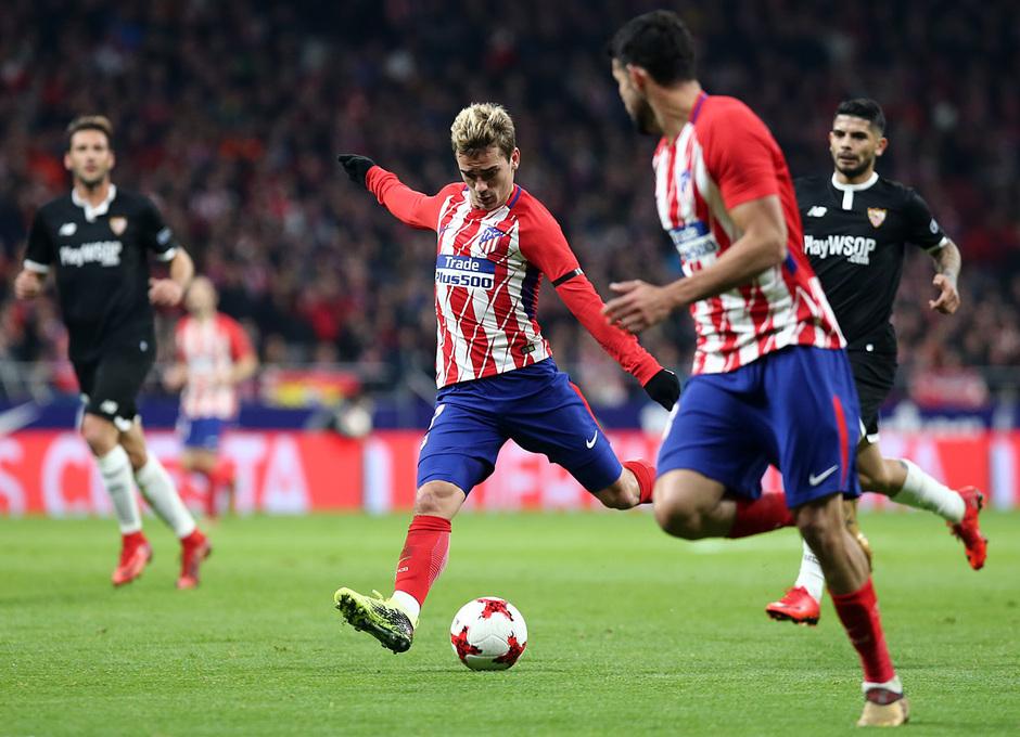 Temp. 17-18 | Atlético de Madrid - Sevilla | Ida Copa del Rey | Griezmann