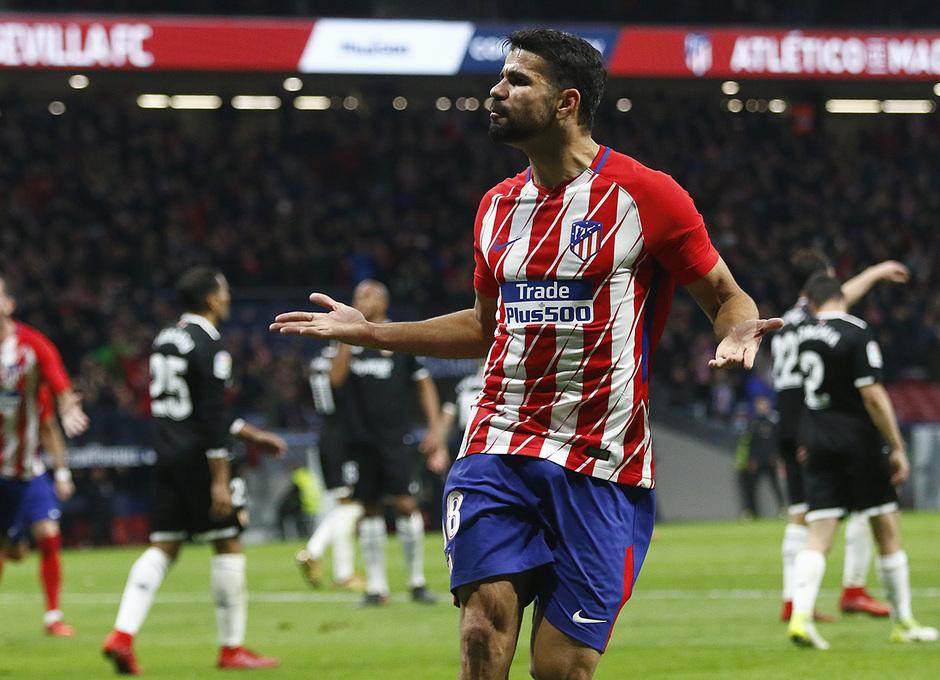 Temp. 17-18 | Atlético de Madrid - Sevilla | Ida Copa del Rey | Diego Costa