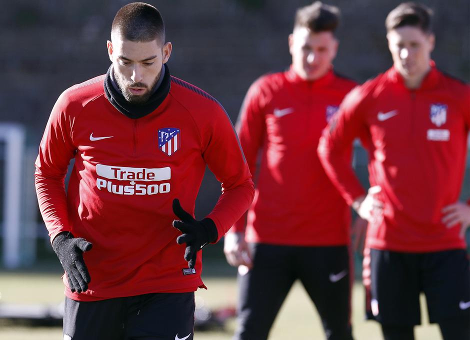 Temporada 17/18. Entrenamiento en la ciudad deportiva Wanda Atlético de Madrid 18_01_2018. Carrasco.