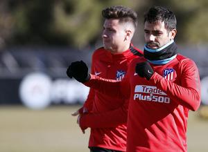 Temporada 17/18. Entrenamiento en la ciudad deportiva Wanda Atlético de Madrid 18_01_2018. Augusto.