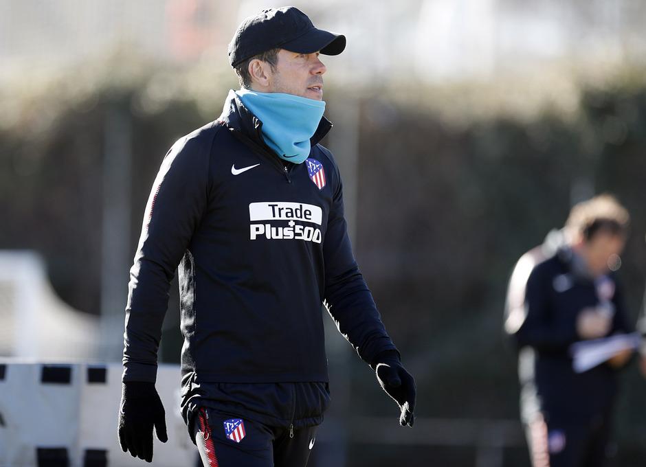 Temporada 17/18. Entrenamiento en la ciudad deportiva Wanda Atlético de Madrid 18_01_2018. Simeone.