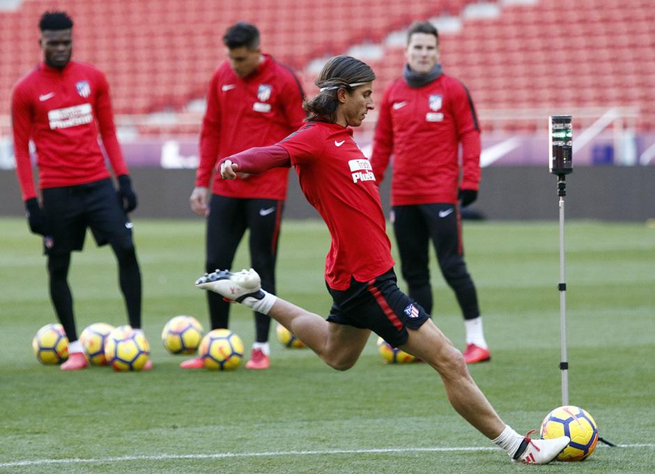 Temp. 2017-2018. Entrenamiento en el Wanda Metropolitano. 02.02.2018. Filipe
