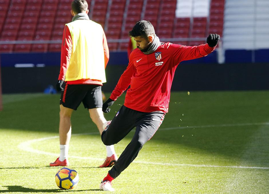 Temp. 2017-2018. Entrenamiento en el Wanda Metropolitano. 02.02.2018. Costa