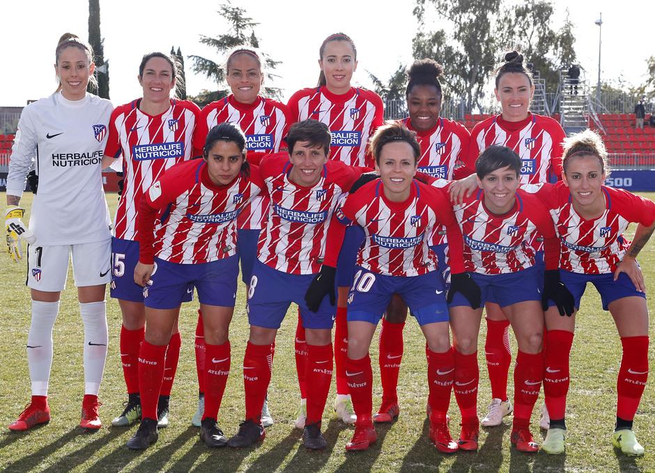 Temporada 17-18. Partido Atlético de Madrid femenino- Santa Teresa. once.