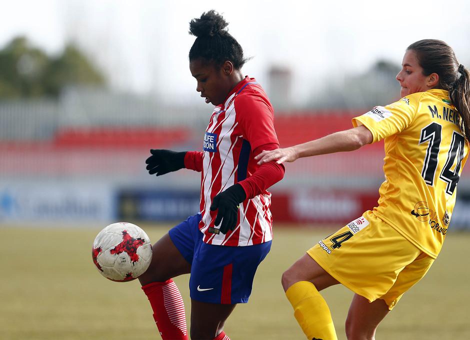 Temporada 17-18. Partido Atlético de Madrid femenino- Santa Teresa. Ludmila.