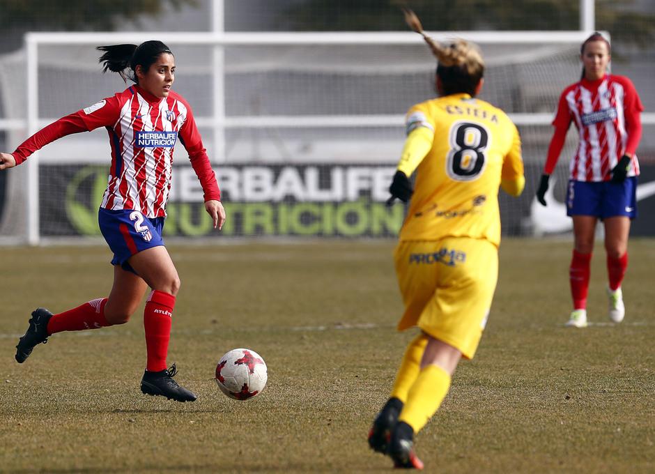 Temporada 17-18. Partido Atlético de Madrid femenino- Santa Teresa. Kenti.