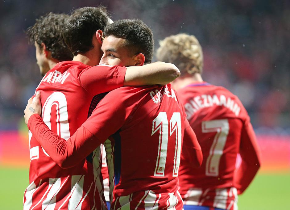 Temp. 17-18 | Atlético de Madrid - Valencia | Celebración Piña