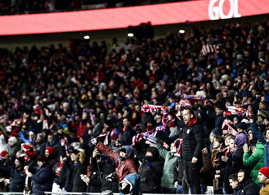 temporada 17/18. Partido Wanda Metropolitano. Atlético Valencia. La otra mirada. Alberto
