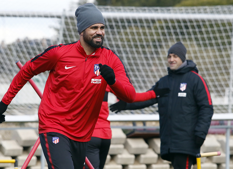 Temporada 17/18 | 09/02/2018 | Entrenamiento en la Ciudad Deportiva Wanda | Diego Costa