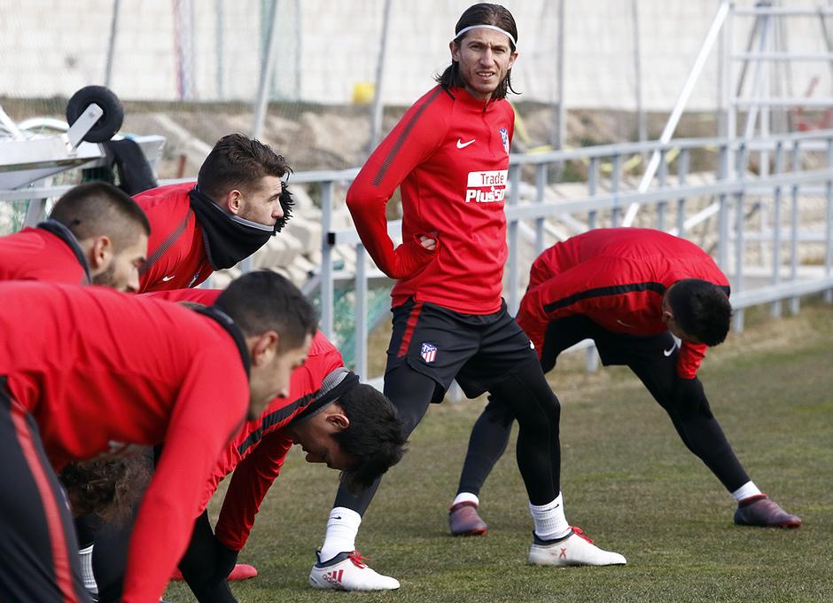 Temporada 17/18 | 09/02/2018 | Entrenamiento en la Ciudad Deportiva Wanda | Filipe Luis