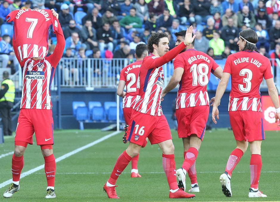 Temp. 17-18 | Málaga - Atlético de Madrid | Celebración
