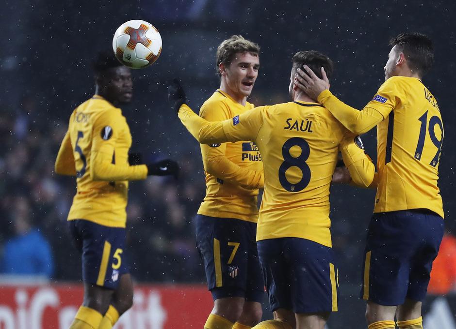Europa League | Copenhague - Atleti - Gol de Saúl celebración.