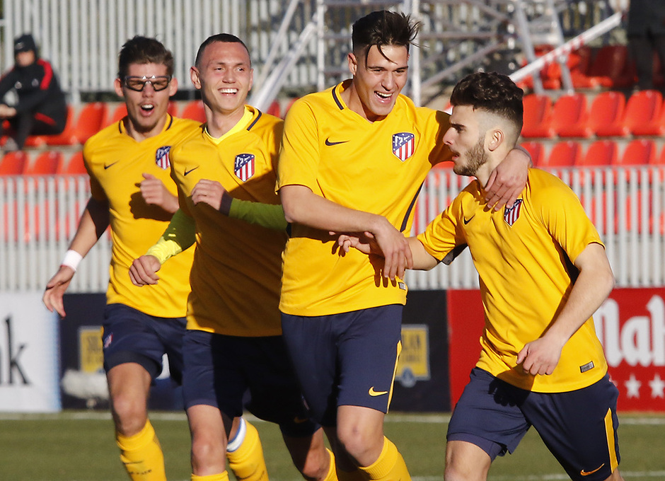 UEFA Youth League | Atleti - Basilea | celebración