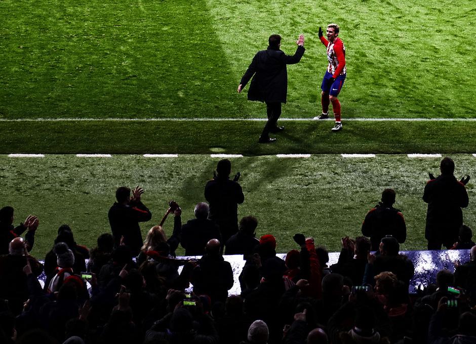 Temporada 17/18 | Atlético - Leganés | La otra mirada | Simeone y Griezmann (Álex)