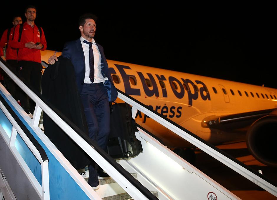 Llegada a Barcelona | Simeone