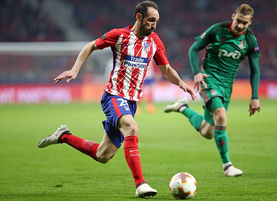 Temp. 17/18 | Ida de octavos | 08/03/18 | Atlético de Madrid - Lokomotiv | Juanfran